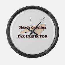 North Carolina Tax Inspector Large Wall Clock