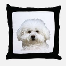 Fifi the Bichon Frise Throw Pillow