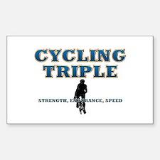 TOP Cycling Slogan Sticker (Rectangle)