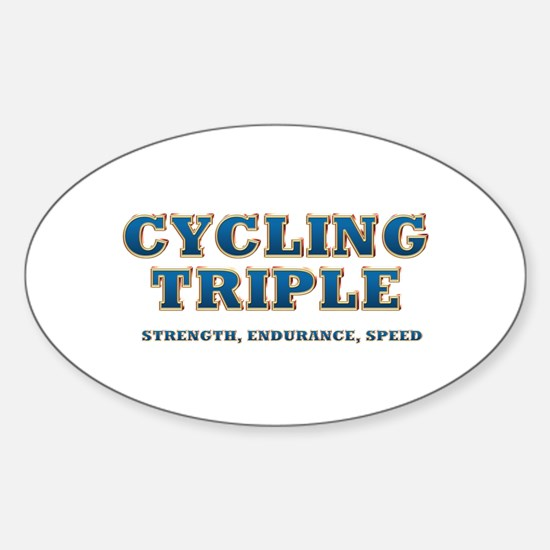 TOP Cycling Slogan Sticker (Oval)