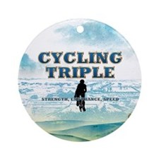 TOP Cycling Slogan Ornament (Round)