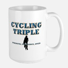 TOP Cycling Slogan Large Mug