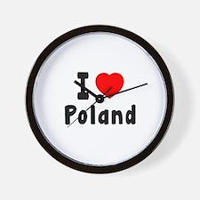 I Love Poland Wall Clock