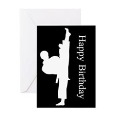 Karate Bday Blank Interior Greeting Cards