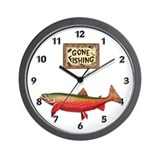 Trout fish Wall Clocks