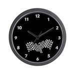 Racing Flags Wall Clock