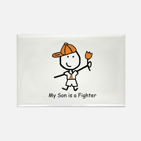 Leukemia Fighter - Owen Rectangle Magnet (10 pack)
