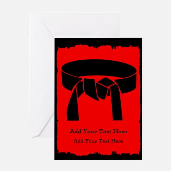 Karate Party Invite Greeting Cards
