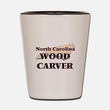 North Carolina Wood Carver Shot Glass