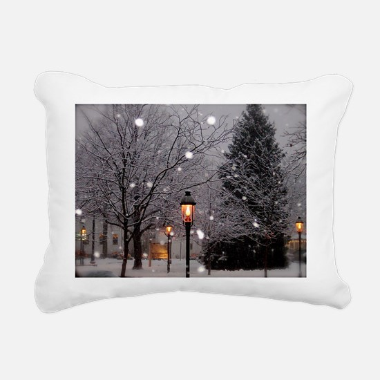 White Christmas Pillo Rectangular Canvas Pillow