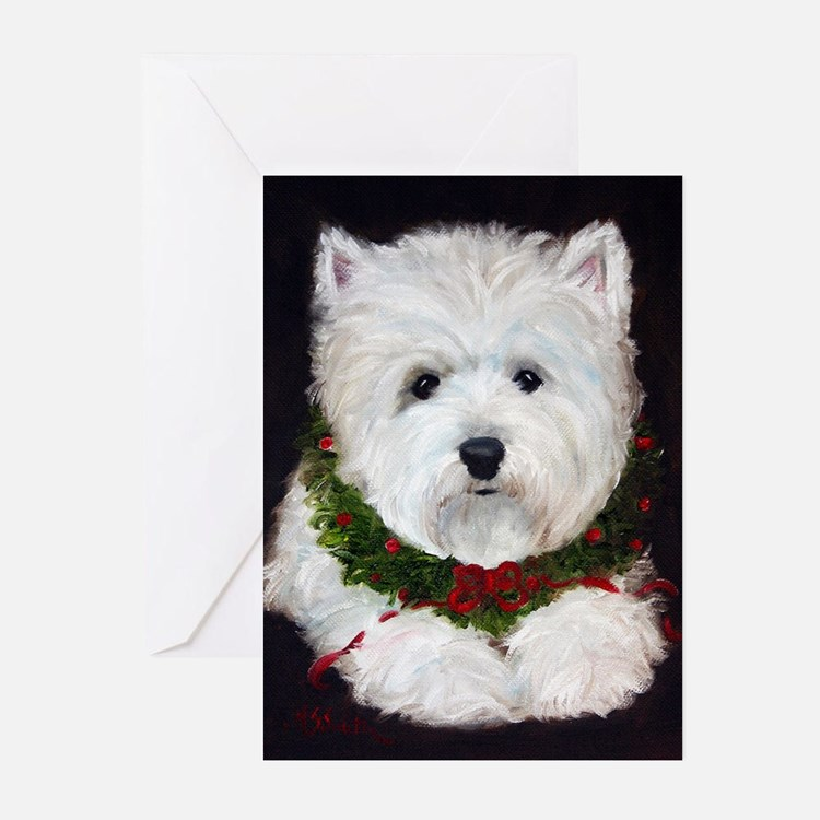 Cute Dog paintings Greeting Cards (Pk of 10)