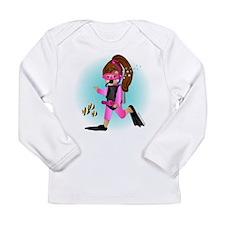 Cute Scuba kid Long Sleeve Infant T-Shirt