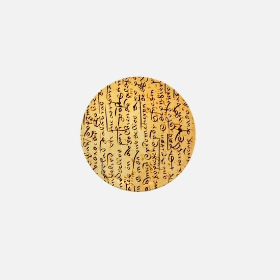 Cute Manuscript Mini Button