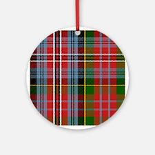 MacPherson Scottish Tartan Round Ornament
