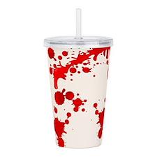 Blood Splatter Acrylic Double-wall Tumbler