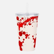 Blood Splatter Acrylic Double-wall Tumbler
