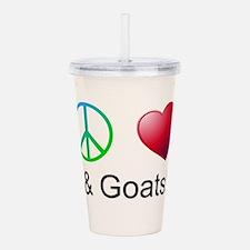 Oeace Love Goats Acrylic Double-wall Tumbler