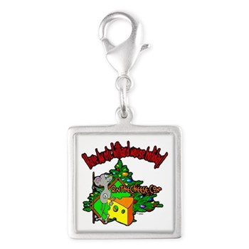 Have An OTC Billiard Mouse Christmas Silver Square Charm