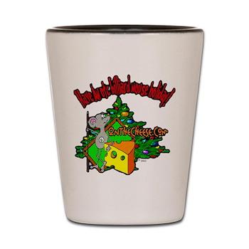 Have An OTC Billiard Mouse Christmas Shot Glass
