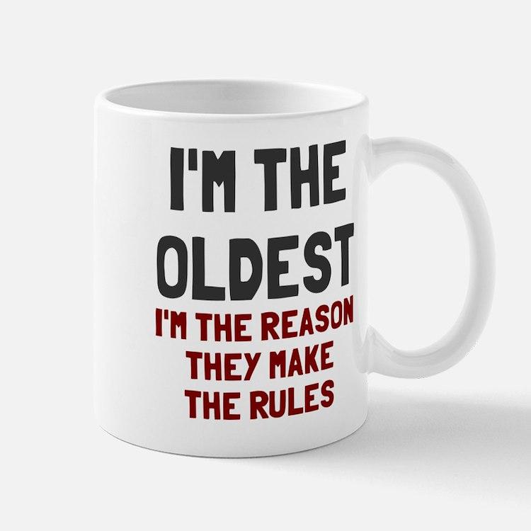I'm the oldest make rules Small Small Mug