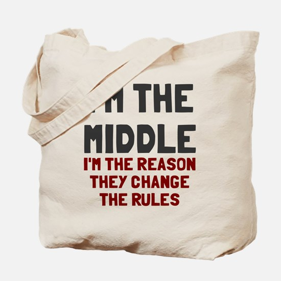 I'm the middle change rules Tote Bag