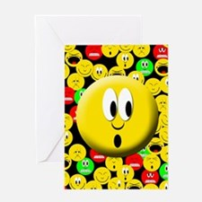 Surprise Mood Smiley Greeting Card