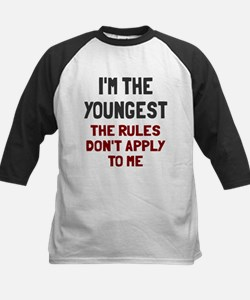I'm the youngest rules don't Kids Baseball Jersey