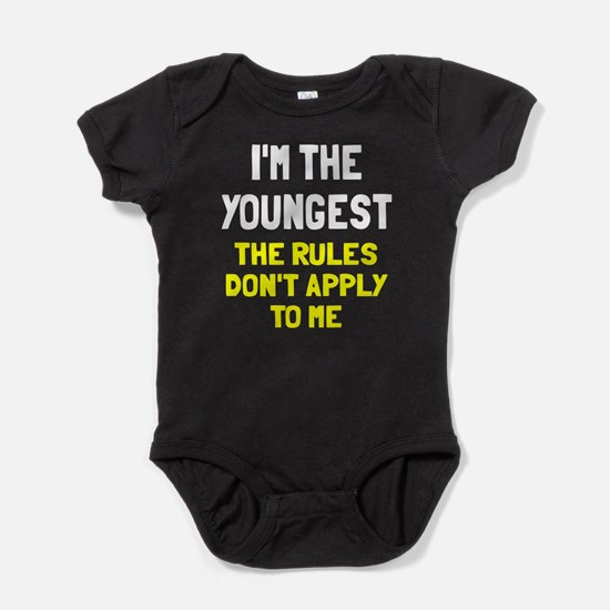 I'm the youngest rules don't apply Baby Bodysuit
