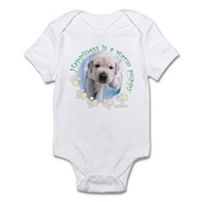 Happiness is a warm Puppy Infant Bodysuit