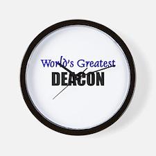 Worlds Greatest DEACON Wall Clock