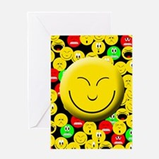 Smiling Mood Smiley Greeting Card