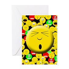 Oops Mood Smiley Greeting Card