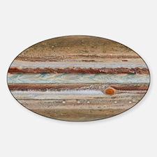 Jupiter Great Red Spot Sticker (Oval)