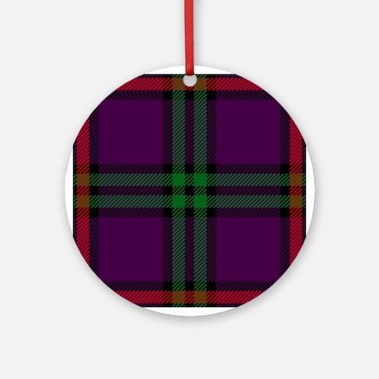 Montgomery Scottish Tartan Round Ornament