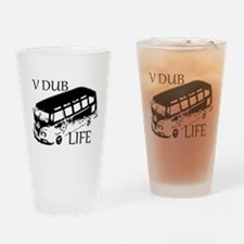 vdub life v w camper van travel Drinking Glass