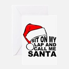Santas lap Greeting Cards