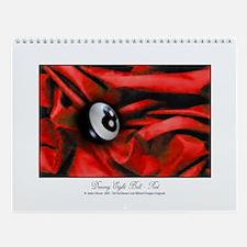 8 Ball Red Velvet Wall Calendar