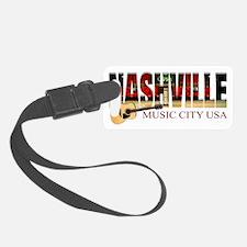 Nashville Music City USA Luggage Tag
