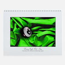 8 Ball Green Satin Wall Calendar