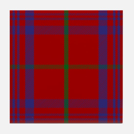 Rose Scottish Tartan Tile Coaster