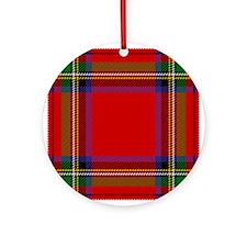 Royal Stewart Tartan Round Ornament