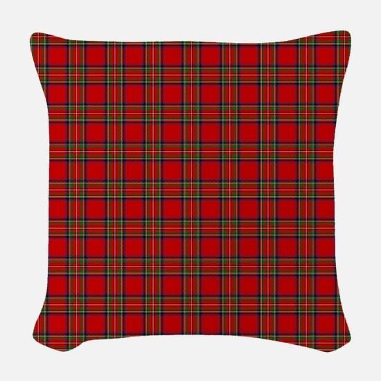 Royal Stewart Tartan Woven Throw Pillow