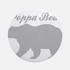 Poppa Bear Round Ornament