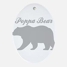 Poppa Bear Oval Ornament