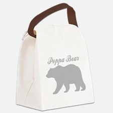 Poppa Bear Canvas Lunch Bag