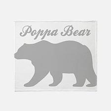 Poppa Bear Throw Blanket