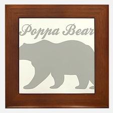 Poppa Bear Framed Tile