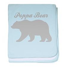 Poppa Bear baby blanket