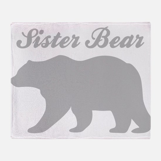 Sister Bear Throw Blanket