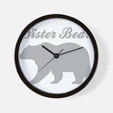 Sister Bear Wall Clock